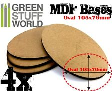4x MDF Bases - Oval 105x70mm - Thickness 3mm AOS Basing Laser Cut Wargames wood