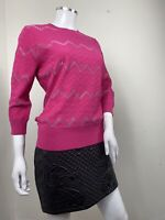 Damsel In A Dress Top UK 14 Jumper Pink Oria Texture Knit Christmas Gift Bright
