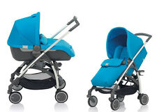 Inglesina Avio Stroller and Bassinet Travel System in Sky Light Blue Brand New!!