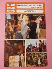 British movie Doctor Dolittle Rex Harrison Samantha Eggar French Film Trade Card