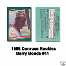 1986 Donruss Rookies Baseball Set 56 Cards - Bonds Clark Jackson