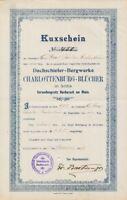 Dachschiefer Bergwerk Charlottenburg Blücher Bacharach hist Kuxschein 1907 Gotha
