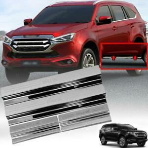 Scuff Plate Sill Door Step Chrome For All New Isuzu MU-X MUX LS SUV 2021-2022