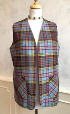 Checked Waistcoats for Women without Fastening