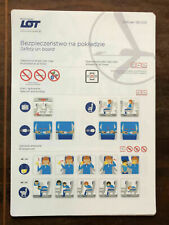 LOT Polish Airlines Embraer 190 safety card