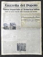 Giornale Gazzetta del Popolo N. 24 - Roma imperiale e l'America latina - 1938