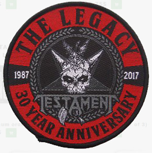 TESTAMENT - LEGACY - WOVEN PATCH - BRAND NEW - MUSIC BAND 2901