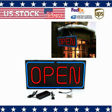 Neon Open Sign 24x12 inch Led Light 30W Horizontal 60cmx30cm Rooms Wall Business