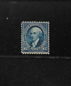 US Scott #262 mint $2 blue James Madison 1894 no wmk, may be regummed f/vf