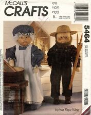"McCall's Grandma and Grandpa Dolls and Clothes Pattern 5464 Size 33"" UNCUT"