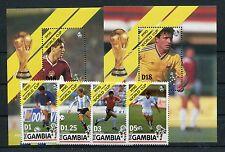 Gambia 1064/67 Block 98/99 postfrisch / Fußball ...........................1/472