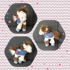 Peluche Doudou Diddl Cheval Galupy Jeans coeur rouge TBE 20cm