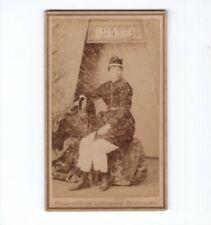 CDV Foto Feine Dame in bergmännischer Tracht - Berchtesgaden 1890er