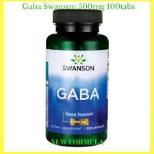 BEST QUALITY!! GABA SWANSON 500mg./100caps. Gamma Aminobutyric Acid New Formula!