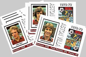 ASTON VILLA - 1978/79  SERIES 2 - COLLECTORS POSTCARD SET