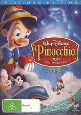 Pinocchio 70th Anniversary Platinum 2-discs Edition DVD NEW Disney Region 4