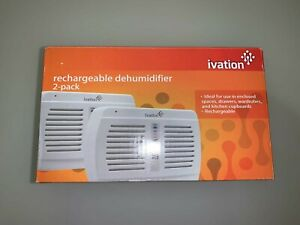 Ivation Rechargeable Dehumidifier 2-pack IVADM05