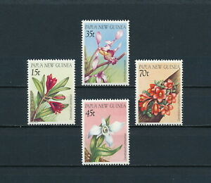 Papua New Guinea    651-4 MNH , Flowers, 1986