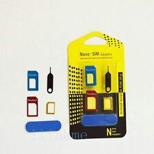 Nano-SIM Card to Micro Standard Adapter Converter Adaptor Set For iPhone 6 5 4S