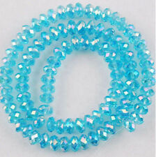 New Faceted Jewelry Crafts Glass Crystal Sky blue 6x8mm Beads Multicolor 027