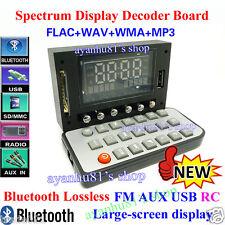 DC12V flac wav wma MP3 fm aux usb sans perte bluetooth décodeur spectrum display rc