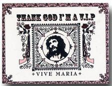 MAGNETE vintage pin-vive Maria Thank God I Am A Vip frigorifero magnete rockabil