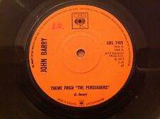"""JOHN BARRY - 1971 Vinyl 45rpm 7-Single - THEME FROM """" THE PERSUADERS """""""