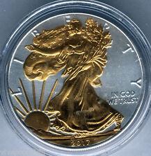 U.S.A. 1 dolar  2017 San Gauden @ 1 onza plata fina @@ Relieve anverso en oro @@