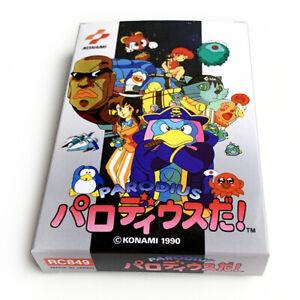 PARODIUS DA! - Empty box replacement spare case for Famicom game Konami +tray
