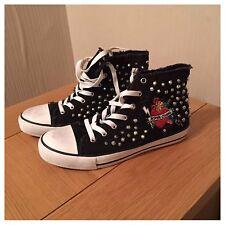 Zara Stud Trainer Boots Size 5