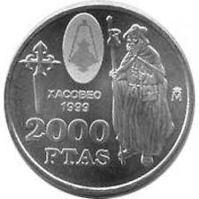 Spanien Juan Carlos 2000 Peseten 1999 Silber- Xacobeo
