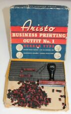 Aristo Busines Printing Outfit No. 1 Rubber Stamp Set Sears Roebuck & Co.VINTAGE