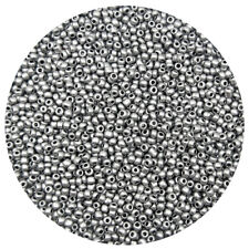Lot of 2500pcs DIY 11/0 Rocaille 1.8mm Small Round Glass Seed Beads Silver