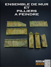 LOT DIORAMA MAQUETTE MURS PILIERS  A  PEINDRE POUR KIT 1 35  TAMIYA ITALERI