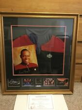 Mega Rare Star Trek Avery Brooks Framed Suit / Picture Must See Wow!!