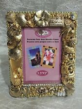 Picture Frame Gold Handcrafted Vintage modern Jewelry tree Lot Shabby Chic