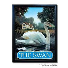 SWAN PUB SIGN POSTER PRINT | Home Bar | Man Cave | Pub Memorabilia