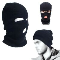 BLACK BALACLAVA MASK 3 HOLES WINTER SAS STYLE ARMY SKI HAT NECK WARMER PAINTBALL