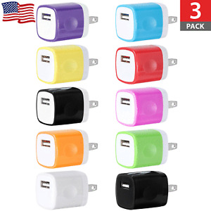3x USB Wall Charger Power Adapter US Plug For iPhone SE 6s 7 8 Plus X XR XS Max