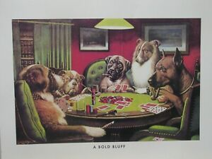 "Best Buds: Dogs Playing Poker ""A Bold Bluff"" 16x20 Poster"