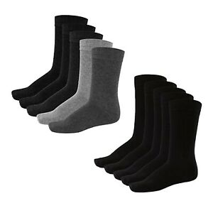 Jack Jones Mens 5 Pairs Design Socks Smart Cotton Work Everyday Plain One Sizes