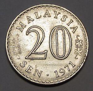 Malaysia 20 sen 1971 Low mintage, RARE!