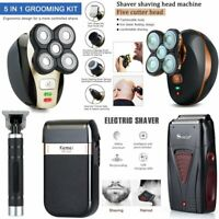 Electric Shaver Rechargeable Bald Head Beard Hair Trimmer Wireless Clipper Set