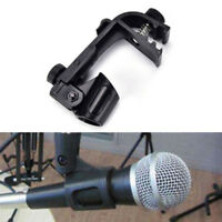 22mm Adjustable Clip On Drum Toms Snare Mount Microphone Mic Clamp Holder Stand