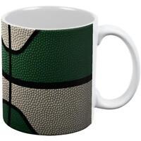 Championship Basketball Forest Green and Cream All Over Coffee Mug