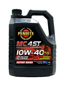Penrite MC-4 ST 10W-40 100% PAO Ester Motorcycle 4 Stroke Oil 4 litre