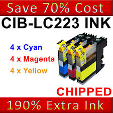 12x CMY Colour Ink Cartridge For Brother LC223 DCP-J4120DW MFC-J4620DW J4625DW