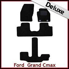 FORD GRAND C-MAX 2011 IN POI OVALE Occhielli LUSSO SU MISURA tappetini per AUTO 1300g Nero
