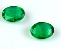 Muzo Colombian Emerald Collection Pair 100% Natural 13-15 Ct Oval AGSL Certified