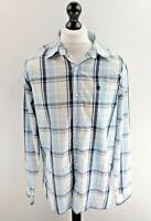 TIMBERLAND Mens Shirt L Large Blue White Check Cotton